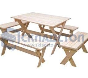 """Уличная деревянная мебель """"Удача"""" из рейки сосны и ели"""