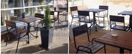 Комплект уличной мебели «Фьюжн» - рейка сосны