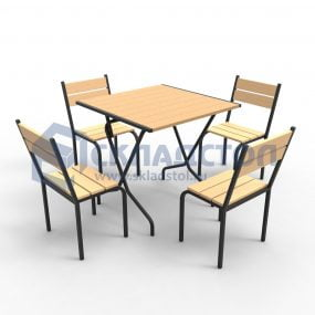 Комплект уличной мебели «Фьюжн-2» - рейка сосны