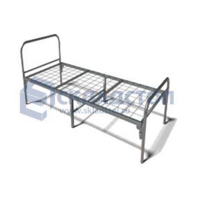 Кровать одноярусная рабочая для общежитий усиленная. Нагрузка до 190 кг