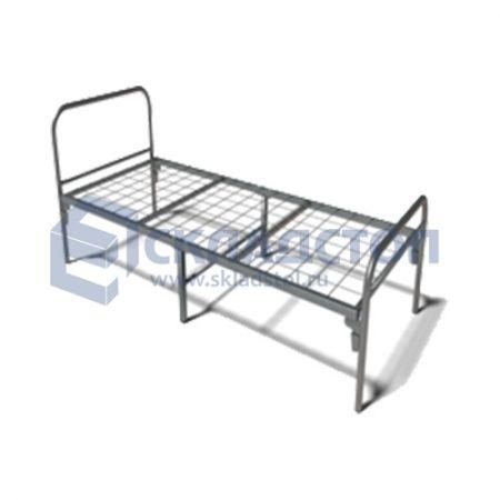 Кровать одноярусная металлическая усиленная. 6 ног. Нагрузка до 190 кг