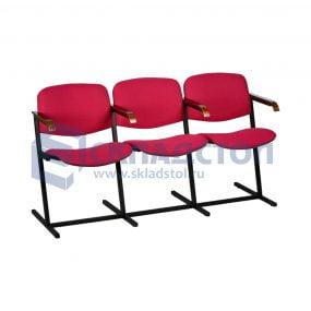 """Секция стульев """"Эврика"""" с откидными сиденьями для актового зала"""