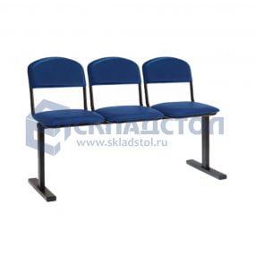 Секция стульев на единой опоре эконом 00К-3Ш