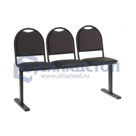 Секция стульев на единой опоре эконом 00М-3Л