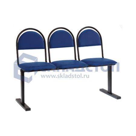 Секция стульев на единой опоре эконом 00М-3Ш