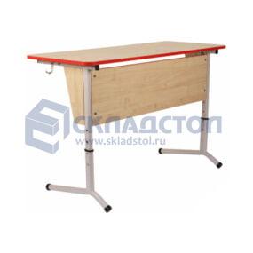 Стол ученический двухместный (парта) (столешница без наклона) 6 гр.