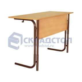 Стол ученический двухместный регулируемый арт. Р2 (парта школьная двухместная) 4-7 гр