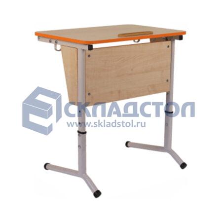 Стол ученический одноместный (парта одноместная) регулируемый 4-6 гр. с наклоном столешницы
