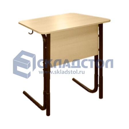 Стол ученический одноместный регулируемый 4-6 гр. (парта одноместная школьная с регулировкой высоты)