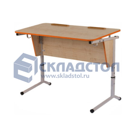 Стол ученический (парта) двухместный регулируемый 4-6 гр. с наклоном столешницы